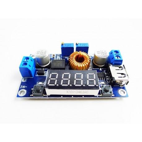 ماژول مبدل و تقویت کننده LM2596 با نمایشگر و کنترل جریان | دانشجو کیت