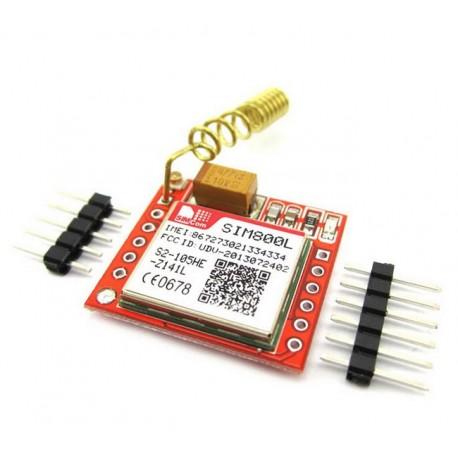 ماژول سیم کارت Sim800L با برد راه انداز و آنتن قابلیت نصب میکروفن و اسپیکر GSM