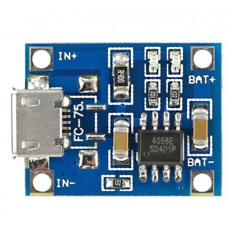 ماژول شارژر باتری لیتیومی Mini USB Tp4056 توان 1 آمپر