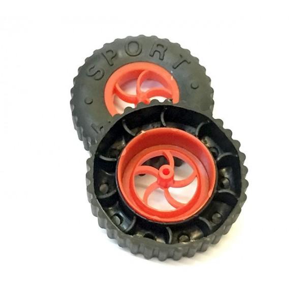 چرخ دو اینچی با لاستیک ضخیم مخصوص رباتیک