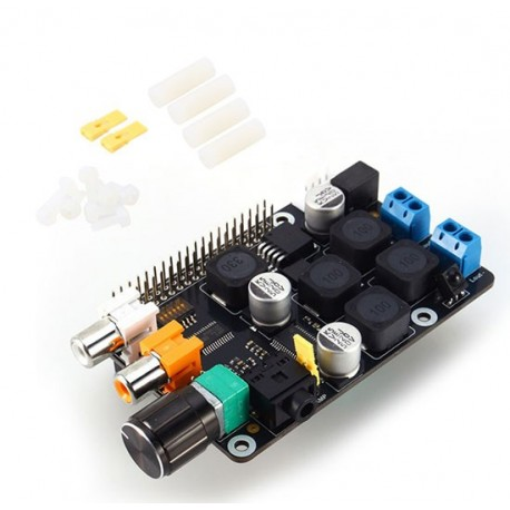شیلد آمپلی فایر X400 استریو 40 وات مخصوص رزبری پای Raspberry Pi Amplifier Shield