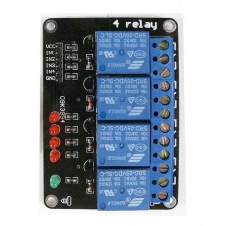 ماژول رله 5 ولت 4 کاناله Relay 4 Channel