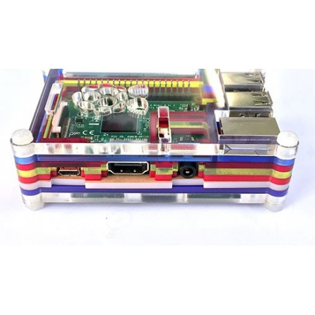 جعبه رنگين كمانى رزبرى Raspberry Pi Colorful Box