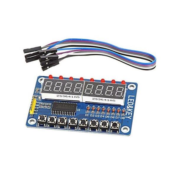 ماژول سون سگمنت با کیبورد 8Bit Digital LED Tube با تراشه TM1638