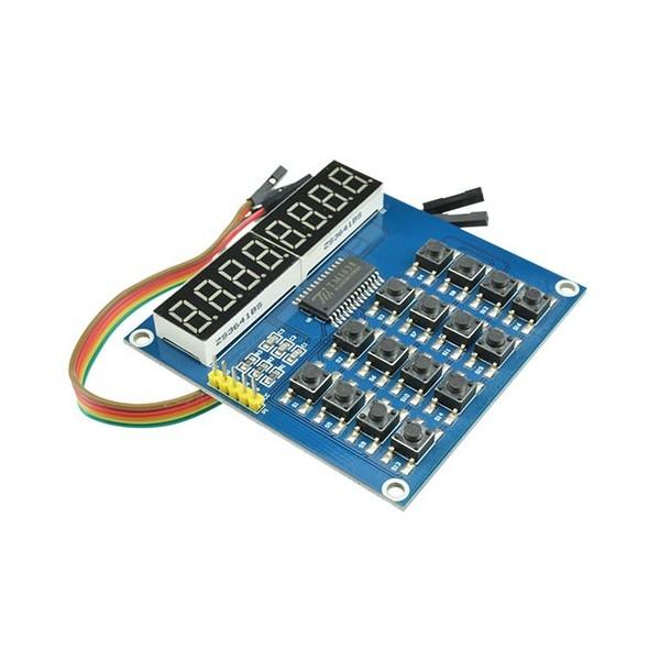 ماژول سون سگمنت با کیبورد Digital LED Tube 8-Bit TM1638