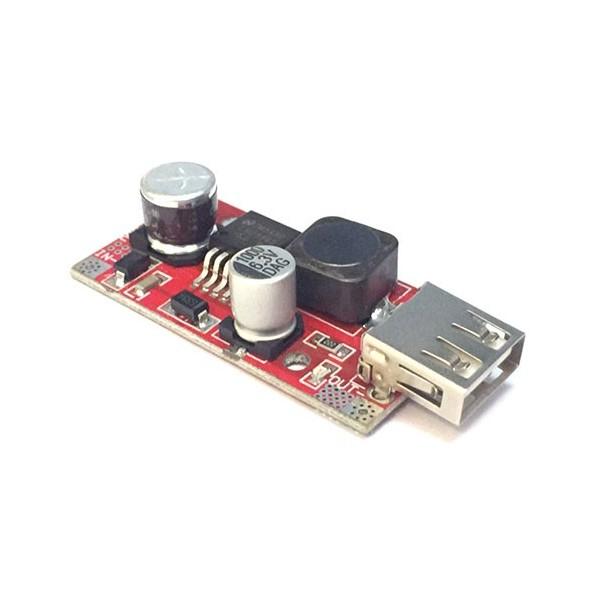 ماژول LM2596 کاهنده با خروجی USB ولتاژ ثابت 5 ولت