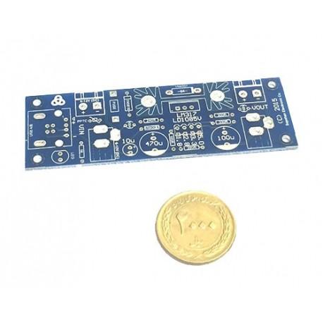 برد عمومی تغذیه میکروکنترلر با ورودی USB و چهار خروجی فیکس بر پایه LM317 کد 21170