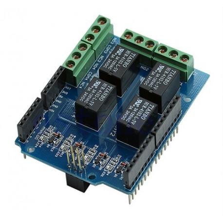 شیلد رله 4 کانال آردوینو Arduino Relay Shield