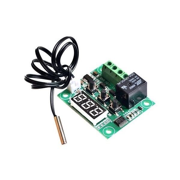 ماژول کنترلر دما با سنسور DS18B20 ضدآب مدل W1209