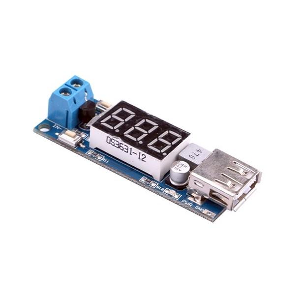 ماژول کاهنده ولتاژ DC to DC با تراشه XL1509 و خروجی USB + نمایشگر