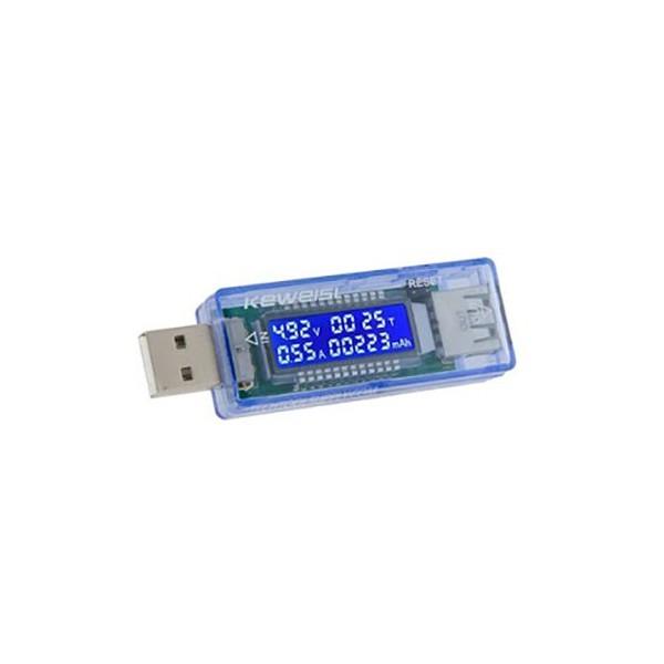ماژول ولت متر و جریان USB با نمایشگر دیجیتال و مدار کنترل شارژ باتری با جریان 3 آمپر