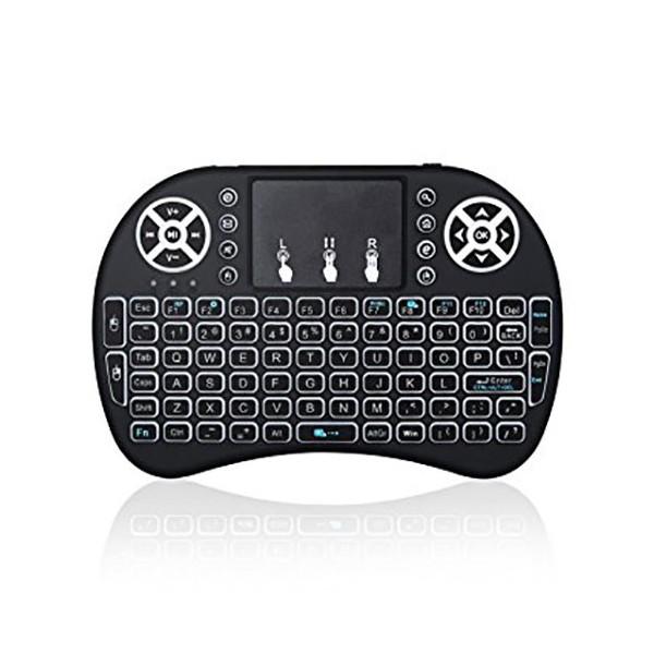 مینی کیبورد وایرلس با دانگل و چراغ صفحه کلید Wireless Mini Keyboard