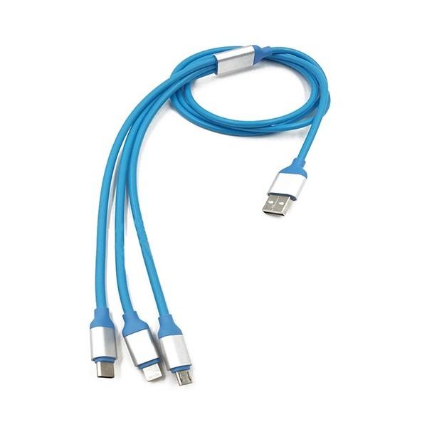 کابل USB 3 کاره مخصوص موبایل اندروید اپل و Type C