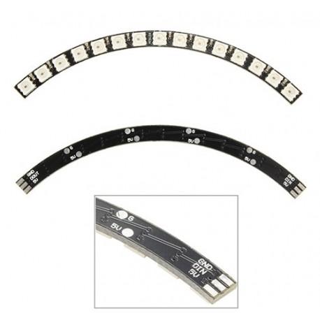 ماژول ال ای دی 60 پیکسل حلقه ای 4 تکه NeoPixel LED RGB String