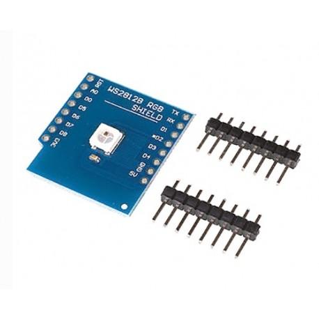شیلد LED RGB مخصوص اینترنت اشیاء IOT برد Wemos Mini D1