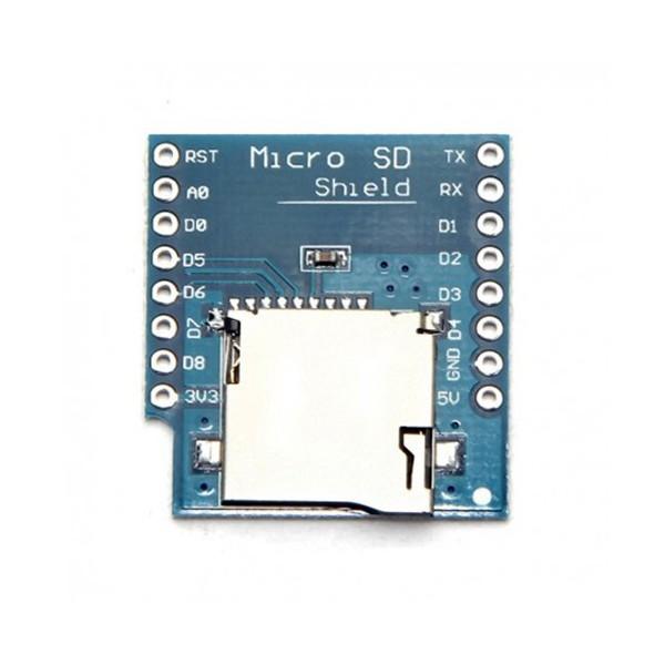 شیلد کارت خوان Micro SD مخصوص اینترنت اشیاء IOT برد Wemos Mini D1