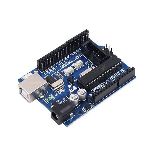 برد آردوینو Uno R3 بر پایه Atmega328P با رابط  USBASP و ICSP