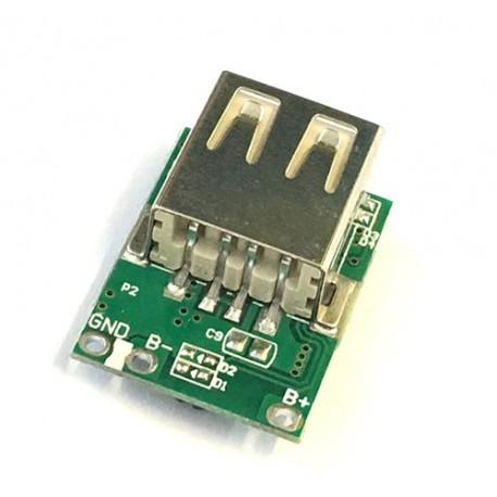 ماژول پاوربانک تک کانال 1 آمپر 5 ولت خروجی ورودی 1.2 آمپر
