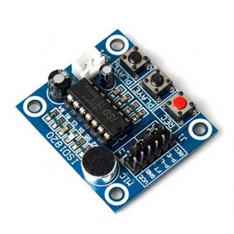ماژول ضبط و پخش صوت با تراشه ISD1820 و بلندگو 2 اینچ و میکروسوئیچ