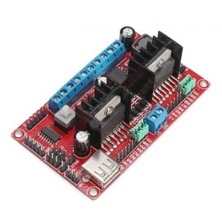 درایور موتور L298N چهار کاناله Dual Bridge stepper با قابلیت DC to DC و تراشه LM2596 از 5 تا 30 ولت DC