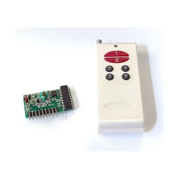 فرستنده گیرنده 6 کاناله 315MHz با خروجی دیجیتال و تراشه 2272 با قابلیت تعریف کد