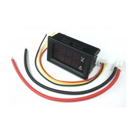 ماژول نمایشگر ولتاژ DC و آمپر تا 10 آمپر با کابل و سوکت مخصوص