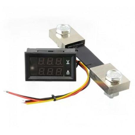 ماژول نمایشگر ولتاژ DC و آمپر تا 100 آمپر با کابل و شنت مخصوص