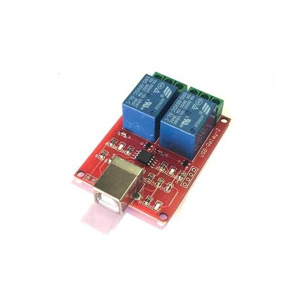 ماژول رله دو کاناله با ورودی USB و تراشه Tiny45