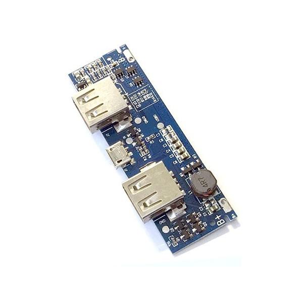 ماژول پاوربانک دو کانال با خروجی 5 ولت 3 آمپر Powerbank module