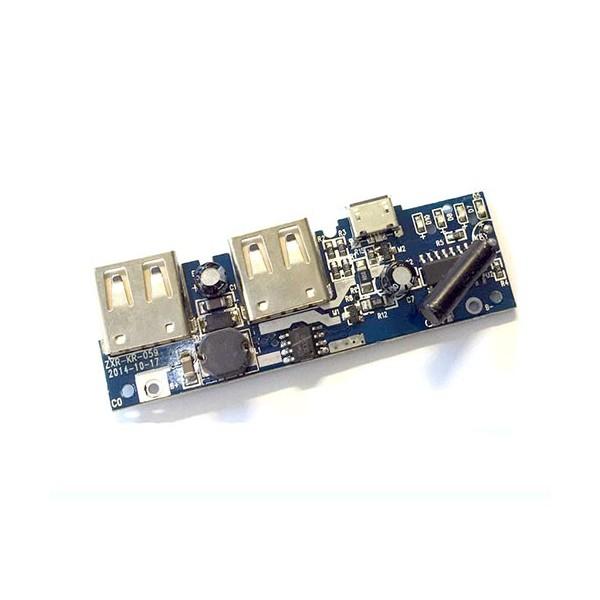 ماژول پاوربانک دو کاناله 5 ولت 2 آمپر Powerbank Module 2 channel