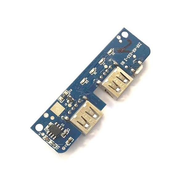 ماژول پاوربانک دو کاناله 5 ولت 2 آمپر Powerbank Module 2 channel با LED سطح شارژ