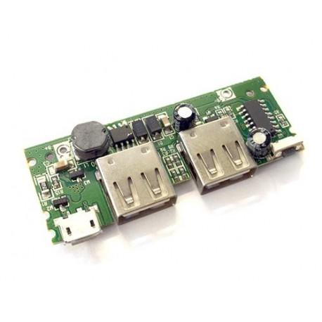 ماژول پاوربانک دو کاناله 5 ولت 2 آمپر Powerbank Module 2 channel با میکروسوئیچ
