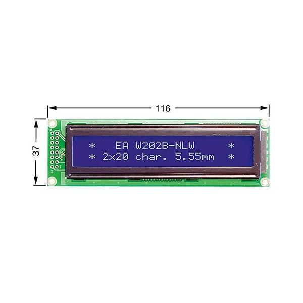 ماژول نمایشگر ال سی دی 2X20 کاراکتری آبی و سبز LCD 2x20 character