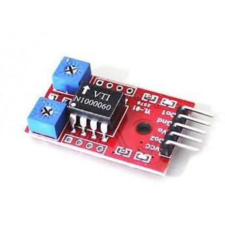 ماژول تیلت با سنسور SCA60C Tilt detection sensor دو کاناله و ترشه LM393