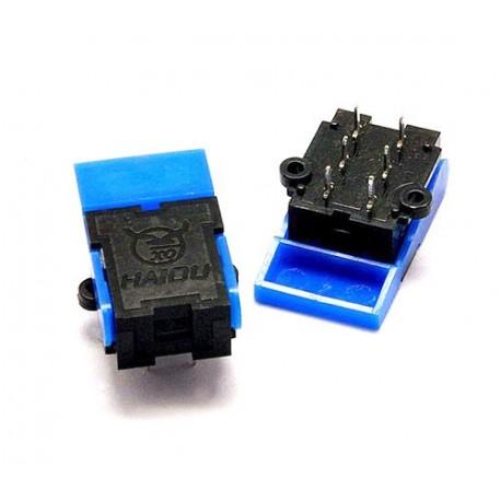 کلید تلفنی آبی 6 پایه پالسی telephone hook switch