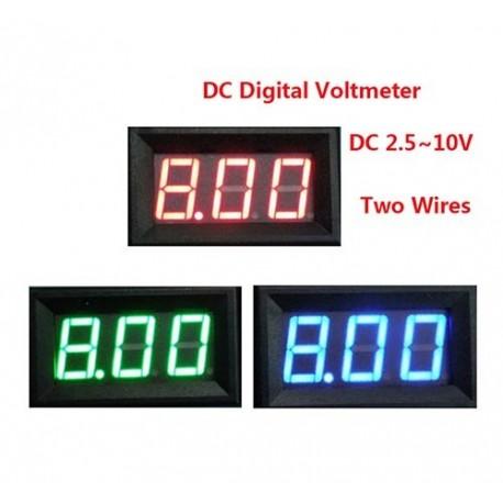 ماژول نمایشگر ولتاژ 3 دیجیت ولت متر با قاب پنلی Volt meter تا 300 ولت DC