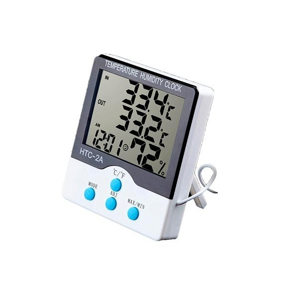 دماسنج و رطوبت سنج و ساعت رومیزی HTC2A