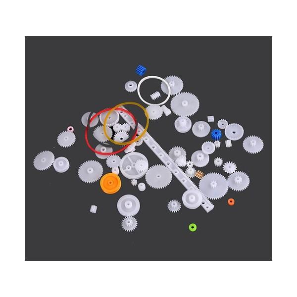 پکیج 60 عدد چرخ دنده DIY Gear Set با پولی و انواع چرخ دنده