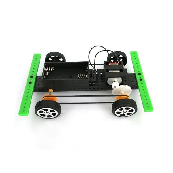 کیت ماشین برقی DIY تسمهای با نقشه مونتاژ - 3 ولت