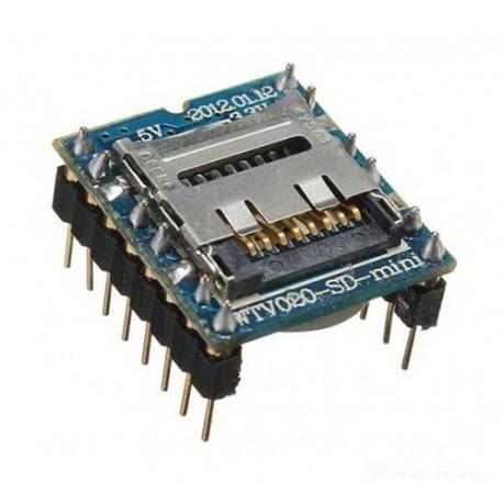 ماژول MP3 PLAYER wtv020m01 دارای شیار Micro SD