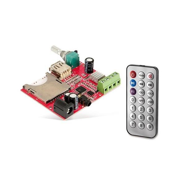 ماژول MP3 Player با ریموت کنترل و قابلیت پخش از USB و کارت حافظه SD دارای ولوم