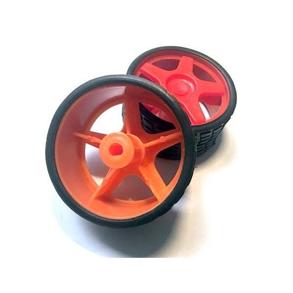 چرخ رباتیک طرح ریس سایز 5.5 سانتیمتر