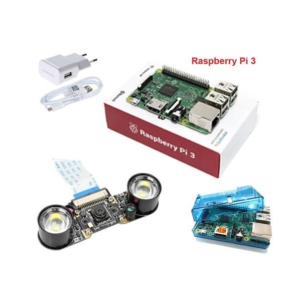 استارتر کیت دوربین مخفی دید در شب برد رزبری پای Raspberry pi starter kit IR Spy Camera