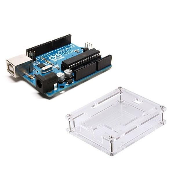 آردوینو Uno R3 به همراه کیس شفاف Arduino Uno R3 Acrilyc Case