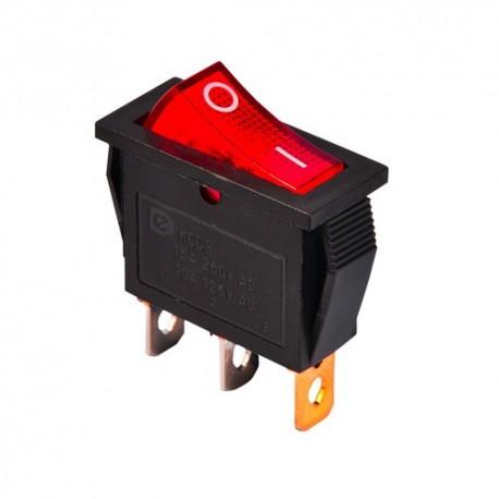 کلید راکر سه پایه چراغ چراغ دار 31x8x32mm rocker switch