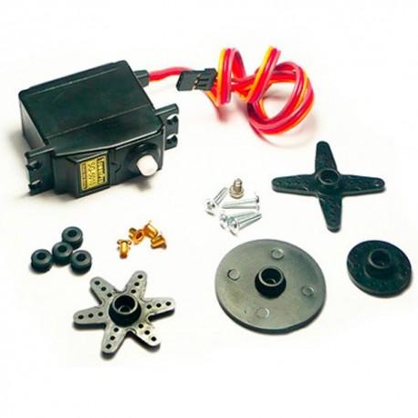 سرو موتور SG5010 دنده پلاستیکی تاور پرو Tower Pro با مبدل شافت و پیچ و اتصالات