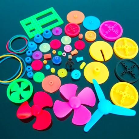 پک پولی و تسمه پلاستیکی مخصوص ساخت ربات با 55 عدد پولی متنوع