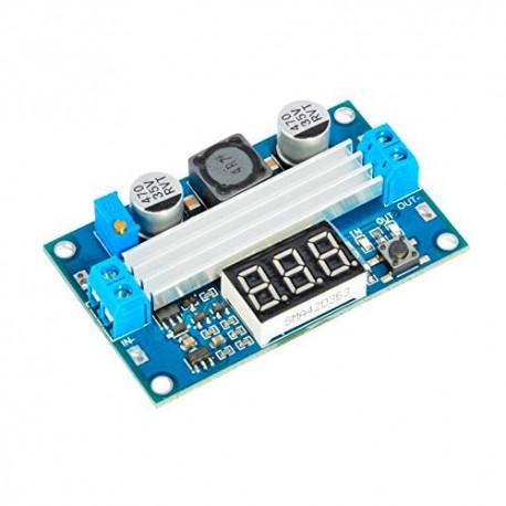 ماژول رگولاتور افزاینده DC به DC با تراشه LTC1871 همراه با نمایشگر ولتاژ 3 تا 35 ولت