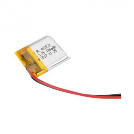 باتری لیتیوم پلیمر Li-Po 3.7V 100mAh تک سل 20x20mm