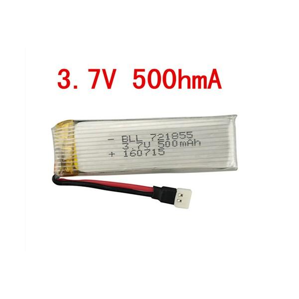 باتری Li-Po پهپاد 500 میلی آمپر 25C باتری لیتیوم پلیمر 3.7V 500mAh